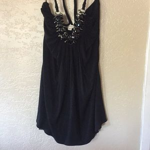 Blk Top with beautiful detail around the neck